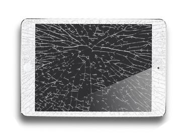 觸控玻璃面板破裂/故障